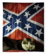 Rebel Cat Fleece Blanket