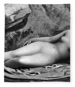 Reclining Nude, C1885 Fleece Blanket