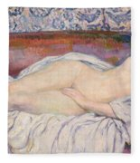 Reclining Nude Fleece Blanket