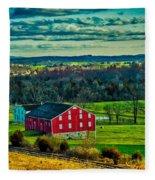 Red Barn - Pennsylvania Fleece Blanket