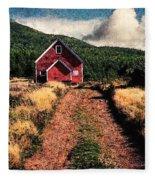 Red Barn Road Fleece Blanket