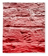 Red Brick Wall Fleece Blanket