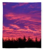 Red Clouds At Dawn Fleece Blanket