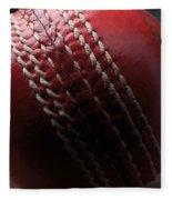 Red Cricket Ball Fleece Blanket