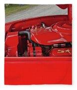 Red Engine Fleece Blanket