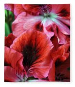 Red Floral Fleece Blanket