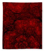 Red Fractal 051910 Fleece Blanket