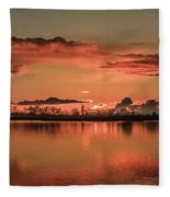 Red Glow Fleece Blanket