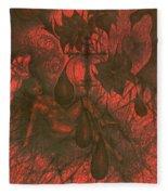 Red Hell  Fleece Blanket