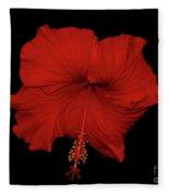 1- Red Hibiscus Fleece Blanket