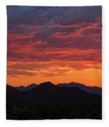 Red Hot Desert Skies  Fleece Blanket