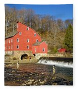 Red Mill Fleece Blanket