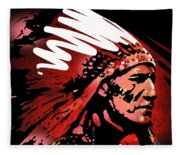 Red Pipe Fleece Blanket
