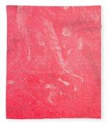 Red Plastic Fleece Blanket