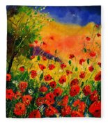 Red Poppies 451 Fleece Blanket