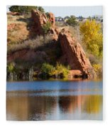 Red Rock Canyon And Garden Of The Gods Fleece Blanket