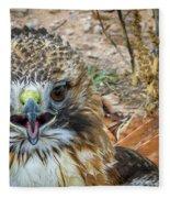 Red-tailed Hawk -5 Fleece Blanket