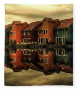Reflections Of Groningen Fleece Blanket