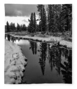 Reflections On Obsidian Creek Fleece Blanket