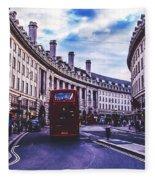 Regent Street In London Fleece Blanket