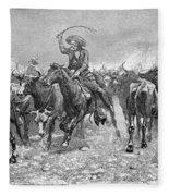 Remington: Cowboys, 1888 Fleece Blanket