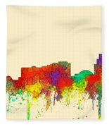 Reno Nevada Skyline Fleece Blanket