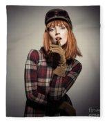 Retro Style Fashion Fleece Blanket