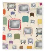 retro TV pattern  Fleece Blanket