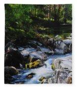 River In Wales Fleece Blanket