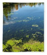 River Water Pollution Fleece Blanket