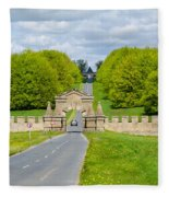 Road To Burghley House Fleece Blanket