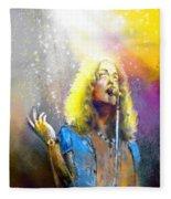 Robert Plant 02 Fleece Blanket
