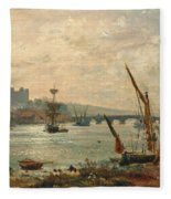 Rochester Cathedral And Castle Fleece Blanket