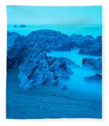 Rock Formations On The Coast, Central Fleece Blanket