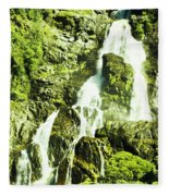 Rocky Mountain Waterfall Fleece Blanket