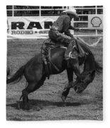 Rodeo Saddleback Riding 5 Fleece Blanket