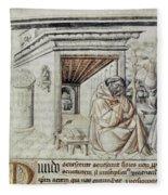 Roger Bacon (1214?-1294) Fleece Blanket