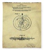Rolex Watch Patent 1999 In Sepia Fleece Blanket