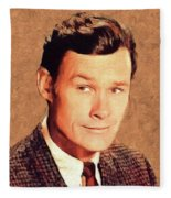 Ron Hayes, Vintage Actor Fleece Blanket