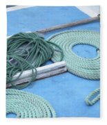 Ropes And Bolt Hook Fleece Blanket