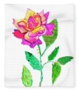 Rose, Watercolor Painting Fleece Blanket