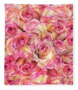 Roses Background Fleece Blanket