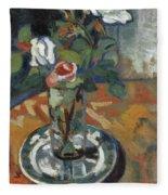 Roses In A Vase Fleece Blanket