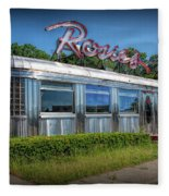 Rosie's Diner Fleece Blanket