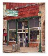 Route 66 - Chenoa Pharmacy Fleece Blanket