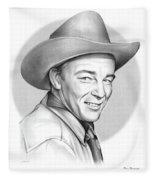 Roy Rogers Fleece Blanket
