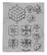 rubik's cube Patent 1983 Fleece Blanket