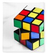 Rubiks Cube Fleece Blanket