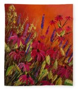 Rudbeckias And Lyatris Fleece Blanket
