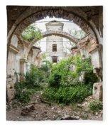 Ruins Of The Church Of St Wenceslas Fleece Blanket